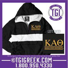 TGI Greek - Kappa Alpha Theta - Rain Jacket #tgigreek #kappaalphatheta