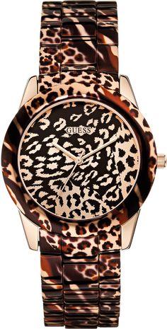 f478083e49 Guess - W0425L3 - Montre Femme - Quartz Analogique - Cadran Multicolore -  Bracelet