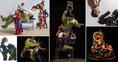 Can you guess what superhero action toys do with their spare time? According to the below photographic 'evidence' they get up to all sorts of silly things! Photographer Edy Hardjo's playful works use detailed high-quality action figures which he puts into hilarious and sometimes compromising positions before photographing them. A must see!
