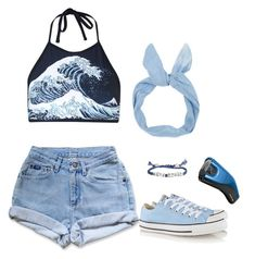 """Support Your Local Girl Gang"" by armed-and-dangerous ❤ liked on Polyvore featuring Motel, Converse and Venessa Arizaga"
