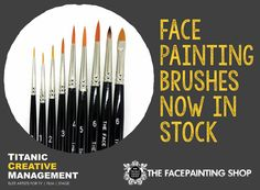 The faceprinting shop #facepainting #brushes available exclusively in Northern Ireland via Titanic Prosthetics