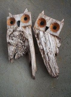 Chouette ou hibou par ashtray – rustic interior decoration - ALL ABOUT Driftwood Projects, Driftwood Art, Rustic Fireplaces, Owl Crafts, Farmhouse Christmas Decor, Rustic Christmas, Rustic Chandelier, Nature Crafts, Recycled Art