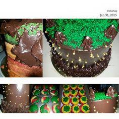 #rastacake #rastacupcake #chocolateganache #red #yellow #green