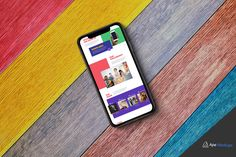 New Free iPhone X Mockup on Colourful Background. This is a perfect to display your latest website and designs and stand out from the rest. Mockup includes a vibrant colourful background. Download and Enjoy!