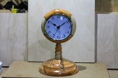 Turned clock