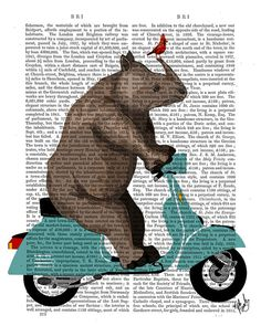 Hey, I found this really awesome Etsy listing at https://www.etsy.com/listing/166738787/rhino-on-blue-moped-original