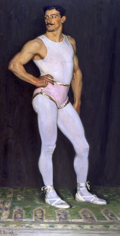 The acrobat (Man in pink) - Arthur Kampf - Oil on canvas - 1907 ~~~ DeSimoneWayland Senior Girl Photography, Circus Performers, Queer Art, Max Ernst, Art Of Man, Illustration Mode, Portraits, Gay Art, Funny Art