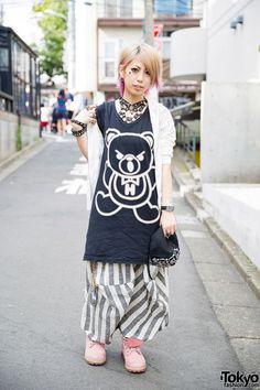 62461f3cefee Dip Dye Hair   Nail Art w  Chrome Hearts   Hysteric Glamour in Harajuku (