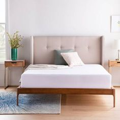Latitude Run® Jacoury Queen Low Profile Platform Bed & Reviews | Wayfair Twin Xl Mattress, Queen Mattress, Mattress Covers, Mattress Protector, Queen Murphy Bed, Bunk Bed With Trundle, Bunk Beds, Upholstered Platform Bed, Bed Reviews