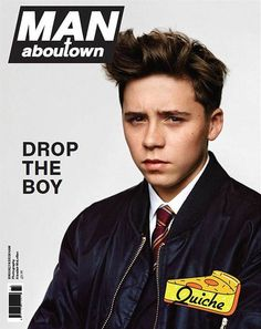 My Name is… David and Victoria Beckham's son, Brooklyn makes his modeling debut for the spring/summer 2014 cover story of Man About Town. David Y Victoria Beckham, Victoria And David, David Beckham, Celebrity Kids, Celebrity Gossip, Celebrity Crush, Vanity Fair, Rihanna, Moda Masculina