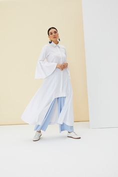 The perfect addition to any Muslimah outfit, shop Rabia Z X Modanisa's stylish Muslim fashion White - Button Collar - Unlined - Cotton - Dress. Find more Dress at Modanisa! Muslim Fashion, Modest Fashion, Cotton Dresses, Duster Coat, Women Wear, White Dress, Stylish, Womens Fashion, Jackets