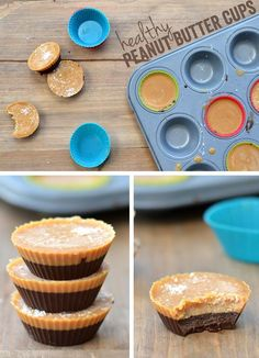 Healthy Peanut Butter Cups via FitFoodieFinds.com