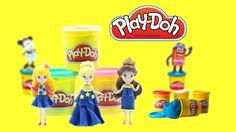 Play Doh Disney Princess dresses & Princess Bella Aurora Cinderella - Ep...