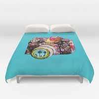 Duvet Covers featuring Picture This by Bianca Green
