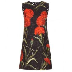 Dolce & Gabbana Floral-Printed Jacquard Dress (15.232.580 IDR) ❤ liked on Polyvore featuring dresses, black, floral jacquard dress, floral printed dress, botanical dress, floral pattern dress and floral design dresses