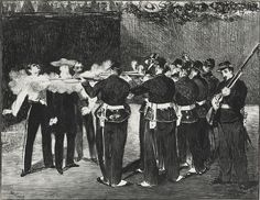 Édouard Manet, L'Exécution de Maximilien de Mexique, lithograph, 1868.