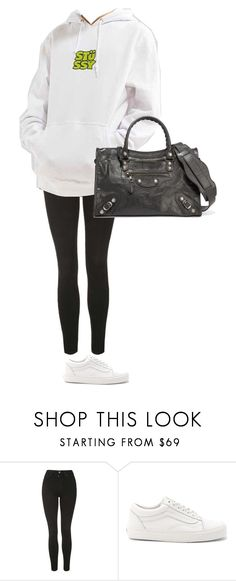"""""""2nd realTuesday"""" by pvzhang on Polyvore featuring Topshop, Stussy, Vans and Balenciaga"""
