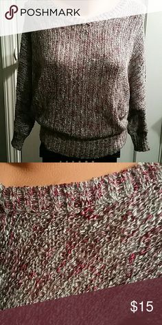 Sweater JESSICA SIMPSON sweater, v neck front and back, tweed ed knit with silver thread NEW no tag Jessica Simpson Sweaters V-Necks