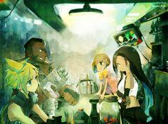 7th heaven Final Fantasy VII Cloud Barret Tifa #FFVII 7 セブンスヘブンを描きました #FF7