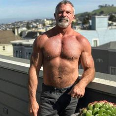 hairy chest - sexy muscle - mature men — gstuds: @kensloanart
