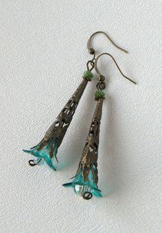 Breezy Handmade Beaded Earrings by bdzzledbeadedjewelry on Etsy, $14.00