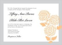 gray and orange invite