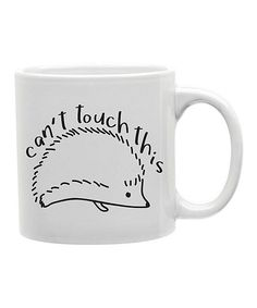 'Can't Touch This' Hedgehog Mug