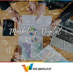 """El marketing digital se implementa en Internet principalmente a través del posicionamiento de la Web en los buscadores como """"Google"""", la gestión de las redes sociales, el comercio electrónico (e-commerce) y la publicidad online, pero también incluye las estrategias de publicidad en telefonía móvil, publicidad en pantalla digitales y promoción en cualquier otro medio online. Si aún tu negocio no está en Internet, no esperes más! #WeBuildIt #VidaDigital #MercadeoDigital #SEO #SEM"""