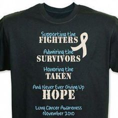 1f51b7e1ea Fighting the Cause Lung Cancer Awareness T-Shirt 34144X  #mesotheliomanewtreatment