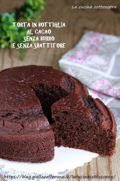 # with out butter, chocolaty and comfortable, and not using a whisk, prepare with a bottle! Best Italian Recipes, Favorite Recipes, Cakes Without Butter, Cupcake Recipes, Dessert Recipes, Bottle Cake, Yummy Food, Tasty, Easy Baking Recipes