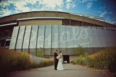 Wedding photos at the ballpark   (Tricia and Cory) On Royals Pinterest site