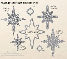 Starlight Thinlits Dies sizes shared by Dawn Olchefske #dostamping #stampinup