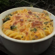 Sweet Potato-Spinach Mac and Cheese