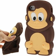 iPhone 4, 4s Monkey silicone Cover, hoesje, case