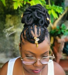 Short Locs Hairstyles, Natural Afro Hairstyles, Natural Hair Updo, Braided Hairstyles For Wedding, African Braids Hairstyles, Natural Hair Styles, Au Natural, Hairdos, Dreads Styles For Women
