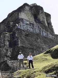Prince Harry visits Mayan ruins..perhaps for a rendezvous with Mandy???