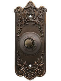 Lorraine Pattern Doorbell Button In Oil-Rubbed Bronze | House of Antique Hardware