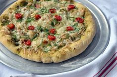Superfood Pizza with Hemp Basil Pesto (Vegan) | Millennial-Kitchen.com
