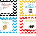 $This packet is FULL of chevron labels!Includes:*Classroom Labels (Furniture)*Direction Labels *40 General Supply Labels*9 Holiday Labels *4 ...