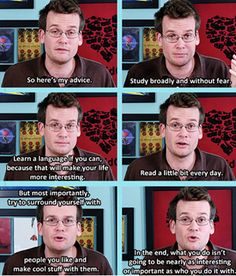 John Green Love <3 But seriously, if you ever watch his vlog channel, he is hilarious!!! Great author, too!