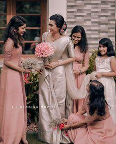 Christian Wedding Dress, Christian Bridal Saree, Christian Bride, Bridal Sarees, Wedding Sarees, Wedding Dresses, Bridesmaid Saree, Bridesmaids, Low Key Wedding