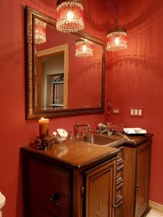 Awesome 15 Victorian Bathroom Colors Ideas for Cozy Bathroom Cozy Bathroom, Bathroom Red, Bathroom Paint Colors, Bathroom Tile Designs, Bathroom Fixtures, Small Bathroom, Bathroom Lighting, Red Bathrooms, Better Bathrooms