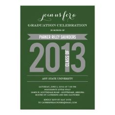 Charming Ribbon Graduation Invitation