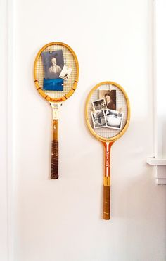 Keep Smiling: Tennis Racket Picture Frame DIY