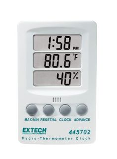 Extech Instruments 445702 Indicator Relative HumidityTemperature with Clock * Check out the image by visiting the link. (This is an Amazon Affiliate link and I receive a commission for the sales)