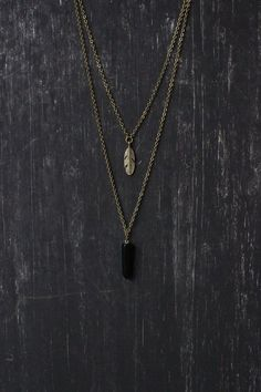 Ananke Jewelry | Crystal necklace, black necklace, layered necklace, feather necklace, agate pendant, gem necklace, gemstone necklace, boho necklace, bohemian jewelry, gift ideas, Christmas gift, layering necklace, womens fashion, jewelry trends, handmade jewellery, Etsy finds
