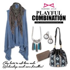 Playful Combination for a chilling day! Fall Winter 2015, Chilling, Knitting, How To Make, Fashion, Moda, Tricot, Fashion Styles, Breien