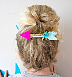 Image of Giddy-up and Grow-Twig Arrow French Barrette Hair Clip