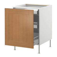 "AKURUM Base cabinet with pull-out storage - birch effect, Ädel beech/beech veneer, 15 "" - IKEA"