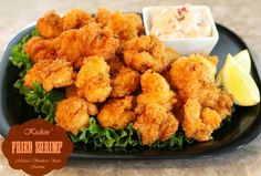 Kickin' Fried Shrimp - Perfectly crispy shrimp coated in a crunchy flour-cornmeal breading.  They cook in 2-3 minutes and are gone in a snap!